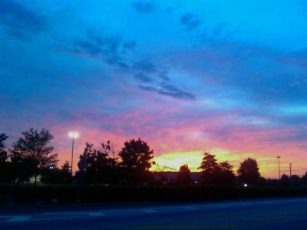 05/31/2009 Rosy-fingered dawn touches the sky over Delaware at 5:30am.